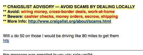 email on craigslist
