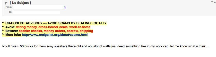 craigslist emails